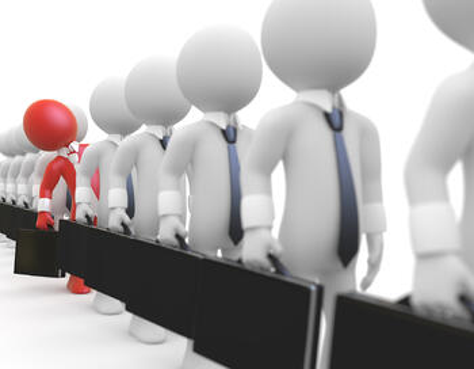 businessmen-line-same-different
