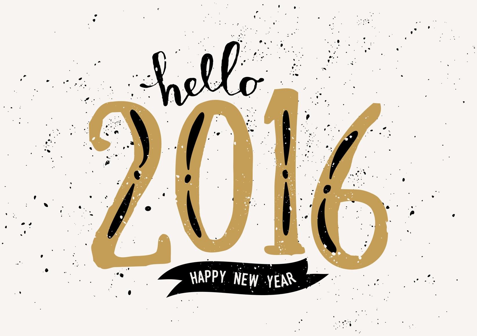 Hello 2016. Happy New Year