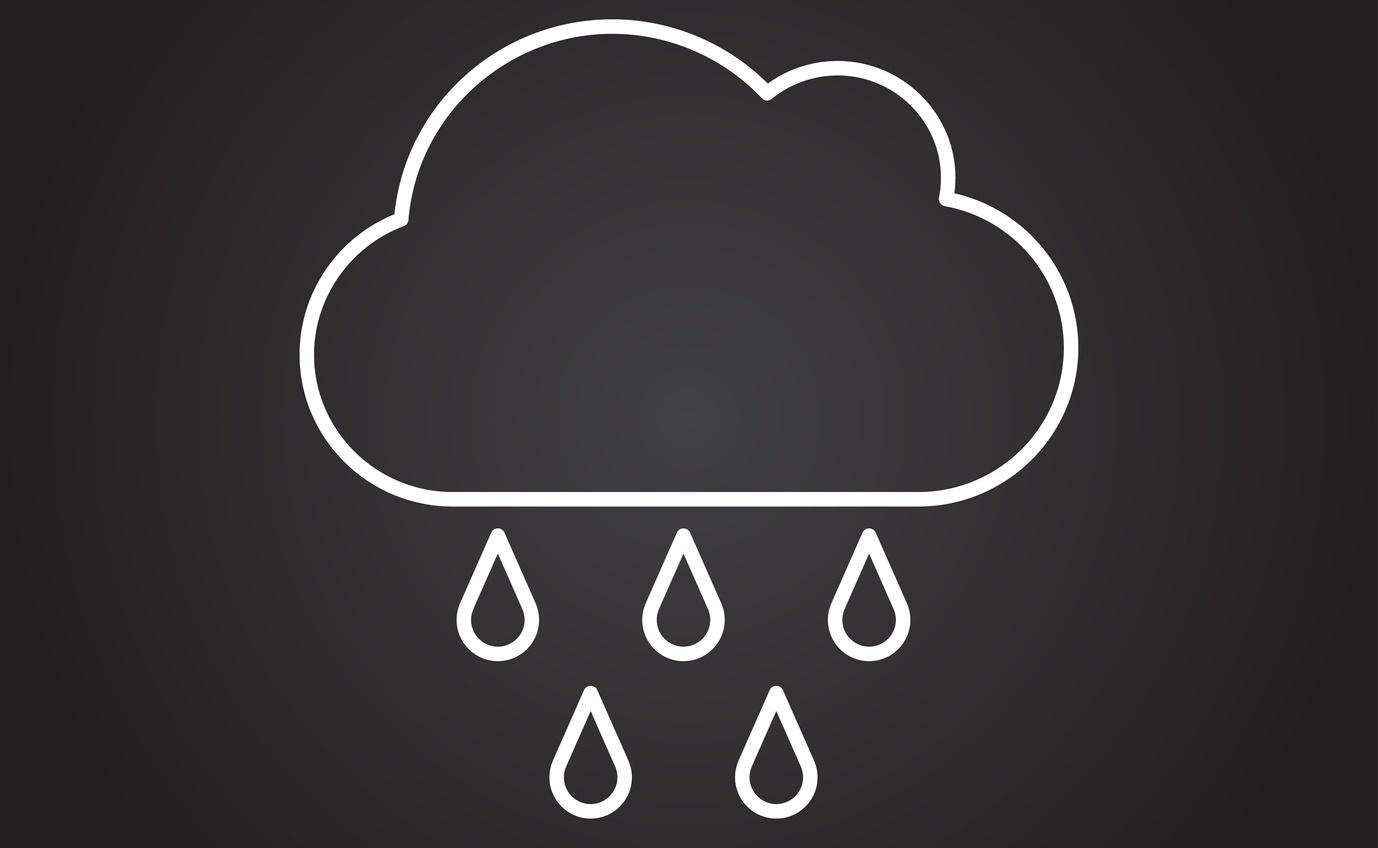 Cloud with rain falling