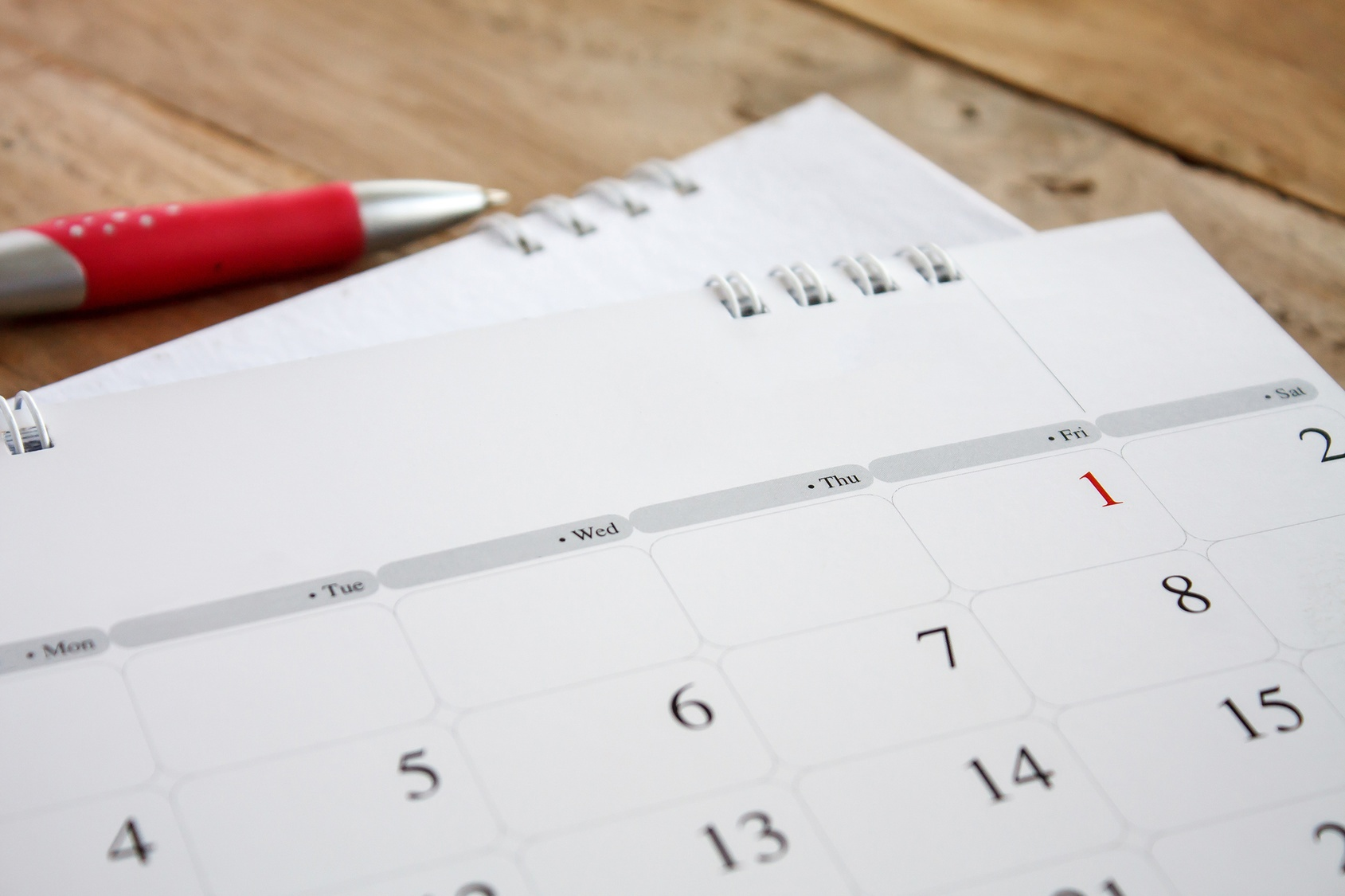 Calendar First Appointments