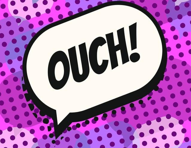 "Comic speech bubble ""Ouch"""