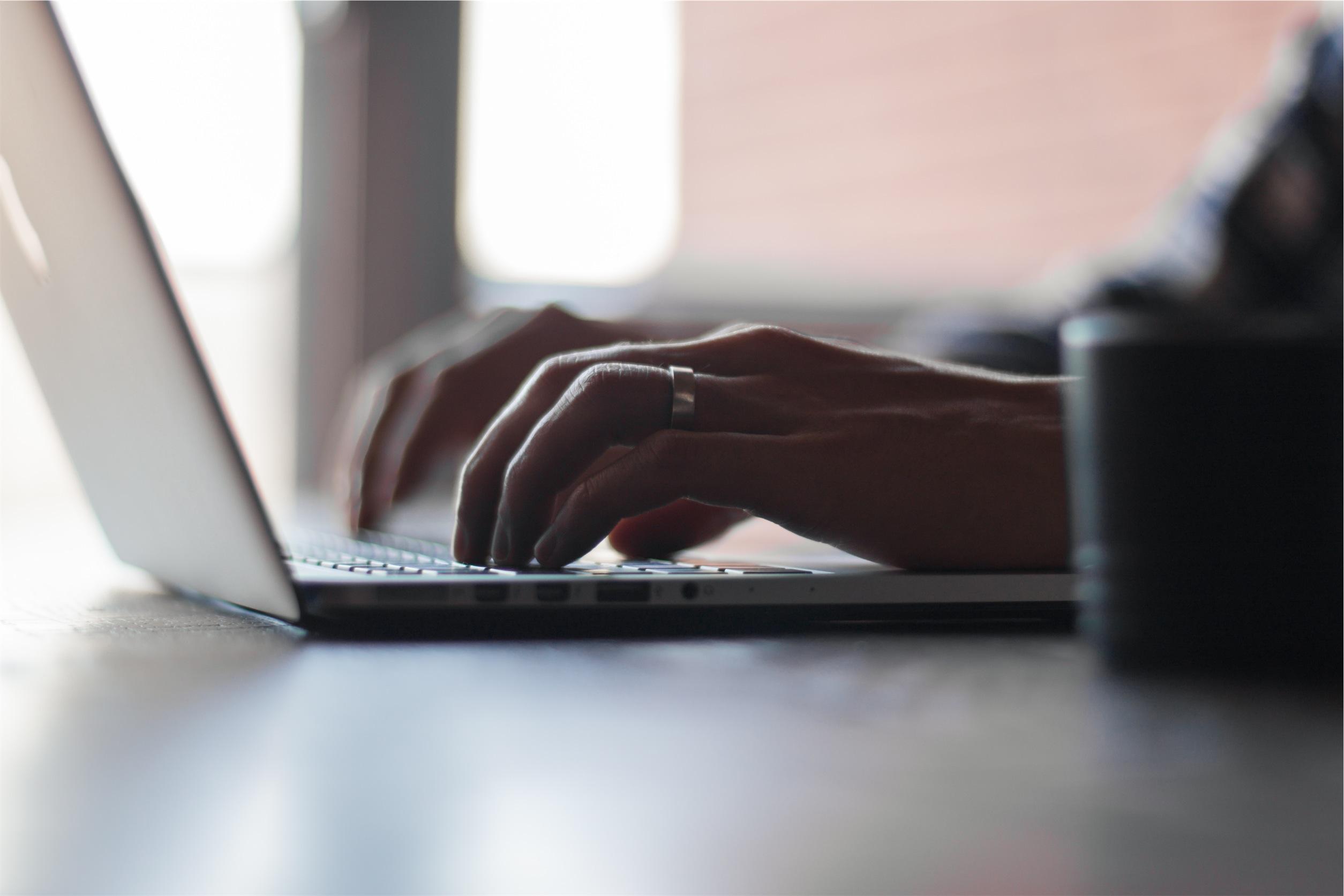 Typing-laptop-writing