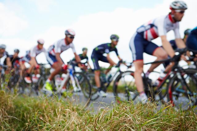 Competition cycling race