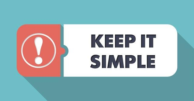 """Keep it simple"" text flat design"
