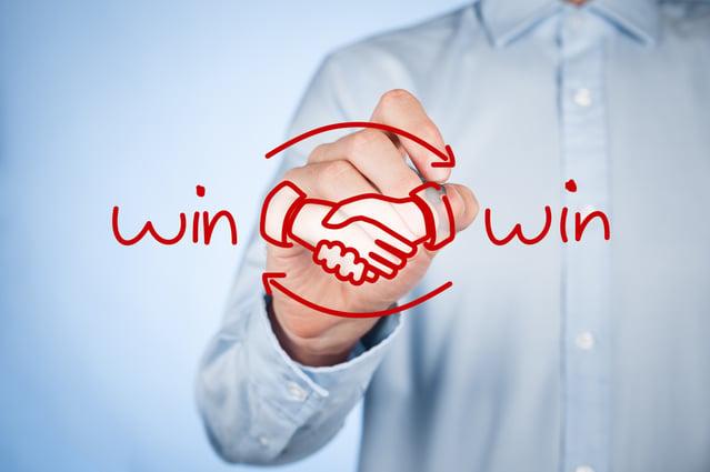 Win-win handshake