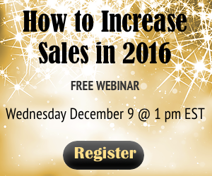 How to Increase Sales in 2016 Free Webinar Register